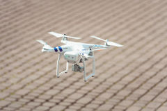 Drone quad copter landing Royalty Free Stock Images