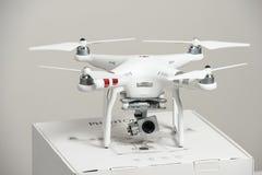 Drone quadrocopter Dji Phantom 3 Advanced Royalty Free Stock Photos