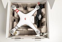 Drone quadrocopter Dji Phantom 3 Advanced Stock Photography