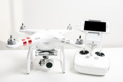 Drone quadrocopter Dji Phantom 3 Advanced Royalty Free Stock Photos