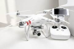 Drone quadrocopter Dji Phantom 3 Advanced Stock Image