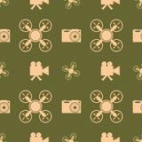Drone quadrocopter icon. Digital camera symbol Stock Photo
