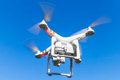 Drone quadrocopter Phantom 3 Professional. St. Petersburg, Russia - May 4, 2016: Drone quadrocopter Phantom 3 Professional with high resolution digital camera royalty free stock image