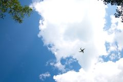 Drone quadrocopter Phantom3 royalty free stock photos
