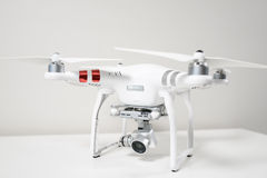 Drone quadrocopter on white background Stock Photography