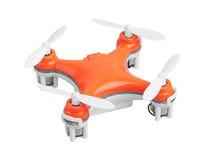 Drone, quadrocopter on white Stock Photo