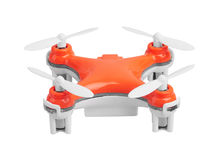Drone, quadrocopter on white Royalty Free Stock Photo
