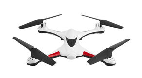 Drone, quadrocopter on white stock photo
