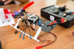 Drone racer building Royalty Free Stock Photo