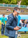 Drone racing pilot Stock Images