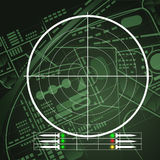 Drone Radar Screen Royalty Free Stock Image