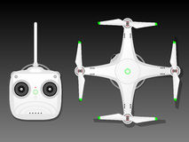 Drone with radio controller Stock Photography