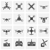 Drone related icons set on background for graphic and web design. Simple illustration. Internet concept symbol for. Website button or mobile app vector illustration