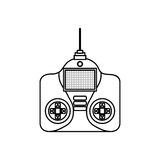 Drone remote control isolated icon Stock Images
