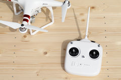 Drone and remote controller Royalty Free Stock Photos