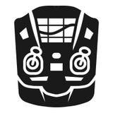 Drone remote radar icon, simple style vector illustration