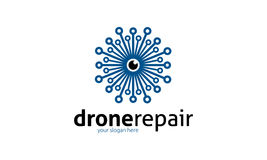 Drone Repair Logo Royalty Free Stock Photography