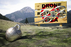 Drone restricted area Stock Photo