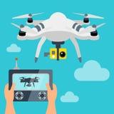 Drone robot technology icon. Royalty Free Stock Photos