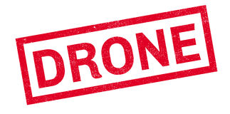 Drone rubber stamp Royalty Free Stock Photos