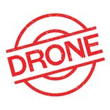 Drone rubber stamp Royalty Free Stock Image