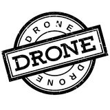 Drone rubber stamp Royalty Free Stock Photo