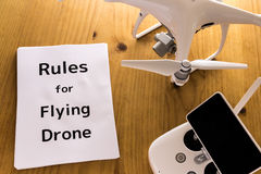 Drone`s safe driving manual. Paper Stock Photography