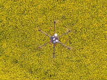 Drone seen from above by other drone Stock Images