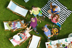 Drone selfie on barbecue Stock Photography