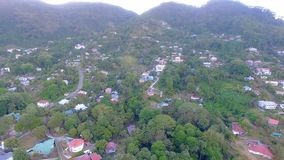 Aerial panorama of Beau Vallon Beach, Mahe Island, Seychelles. Drone shot of Beau Vallon Beach, Mahe Island, Seychelles stock video footage