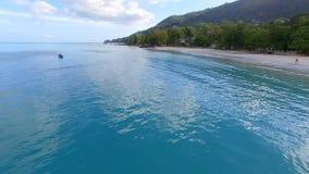 Aerial view of Beau Vallon Beach, Mahe Island, Seychelles 7. Drone shot of Beau Vallon Beach, Mahe Island, Seychelles stock video footage