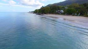Aerial View Of Beau Vallon Beach, Mahe Island, Seychelles 8. Drone Shot Of Beau Vallon Beach, Mahe Island, Seychelles stock footage