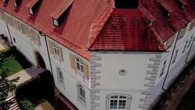 Drone shot of castle Filseck in Germany stock footage