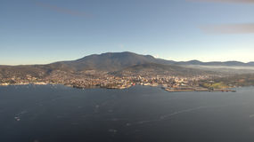 Aerial image of Hobart Royalty Free Stock Photo