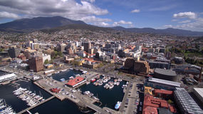 Aerial image of Hobart Stock Photos