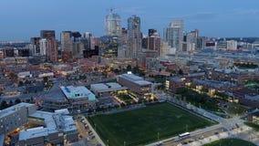 Aerial view of Denver Colorado stock photo