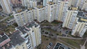 Drone shot in Minsk Hero City Obelisk. An aerial shot of the Minsk Hero City Obelisk in Belarus stock video footage