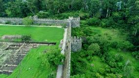 Drone view of Gonio fortress near Batumi, Georgia stock video