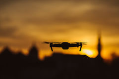 Drone silhouette Royalty Free Stock Photos