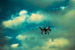 Drone in sky Stock Photo