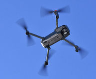 Drone on a sky. Drone flying in a heaven royalty free stock photo