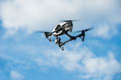 Drone in sky/Selective focus Royalty Free Stock Photo