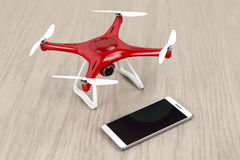 Drone and smartphone Royalty Free Stock Images