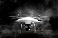 Drone With Smoke Around Stock Photography