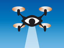 Drone spy eye Stock Photography