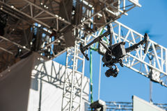 Drone on stage background royalty free stock image