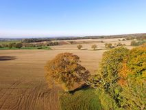 Drone still image of the Sussex countryside. Royalty Free Stock Photography