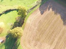 Drone still image of the Sussex countryside. Royalty Free Stock Image