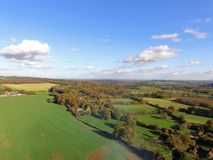 Drone still image of the Sussex countryside. Royalty Free Stock Photos