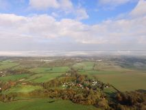 Drone still image of the Sussex countryside. Royalty Free Stock Photo
